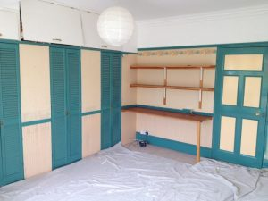 wooden slatted doors with new colour