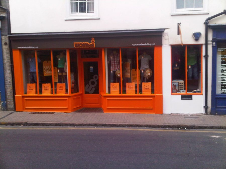 shop front before