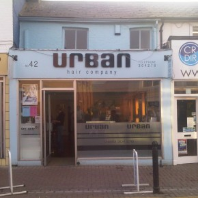 shop front before painting