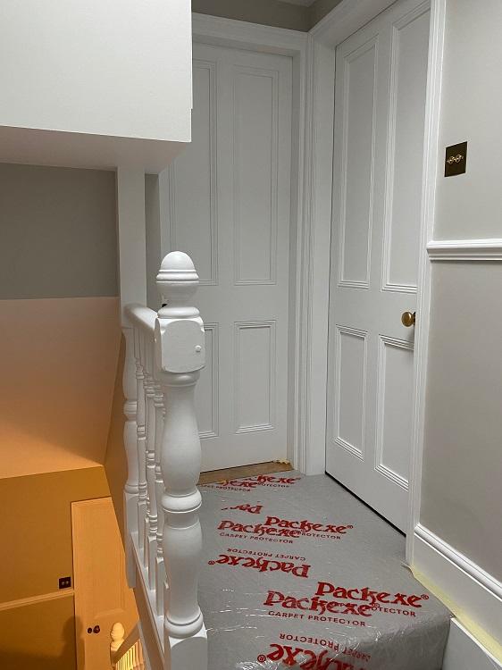 hallway repainted